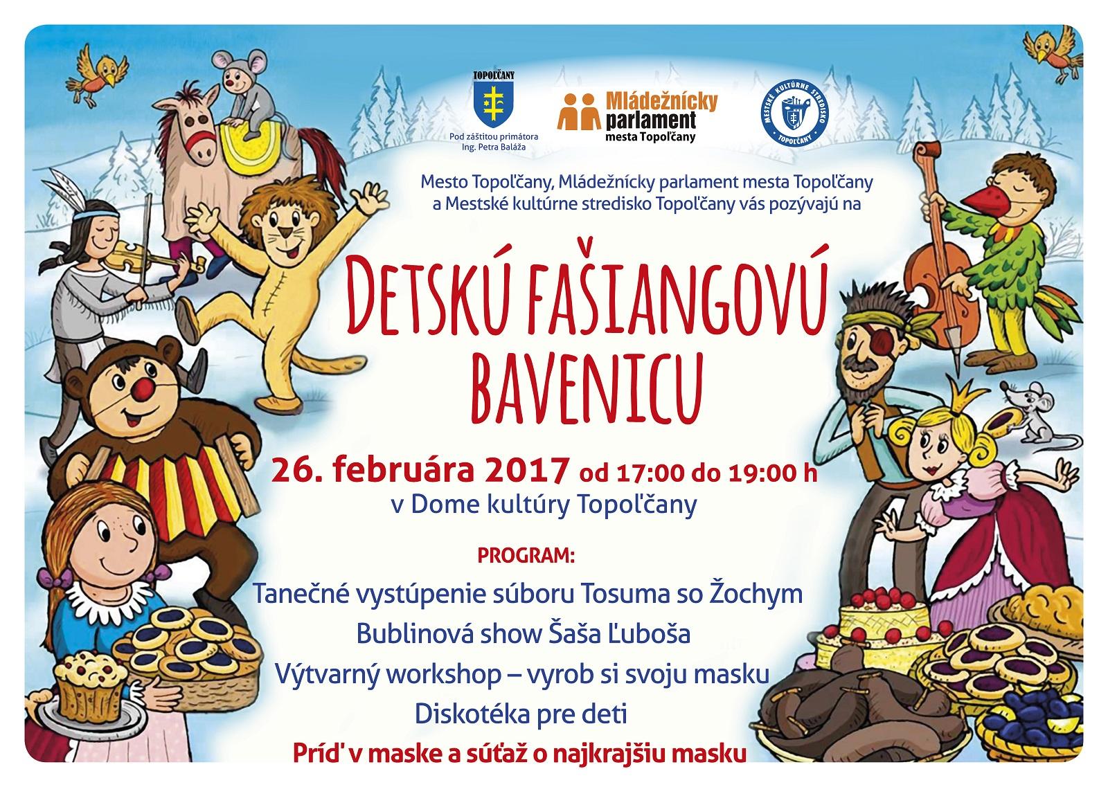 ca9b8d55e613a Neviete kam s deťmi počas studených dní? Určite skúste zájsť na Detskú  fašiangovú bavenicu v Topoľčanoch, ktorá bude plná zábavných predstavení a  ...